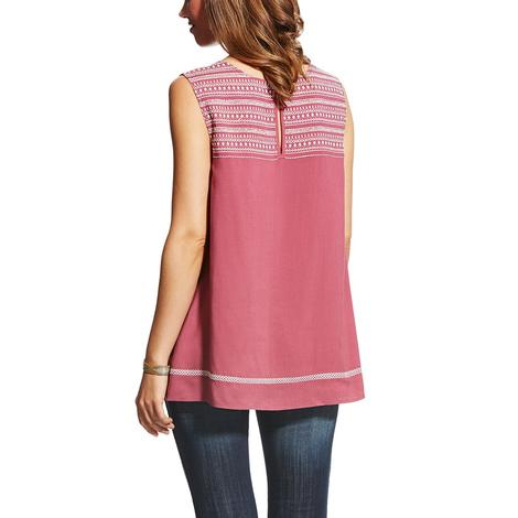 Ariat Womens Too Busy Hawthorn Rose Tunic