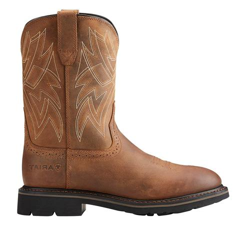 Ariat Everett Soft Round Toe Brown Men's Work Boot