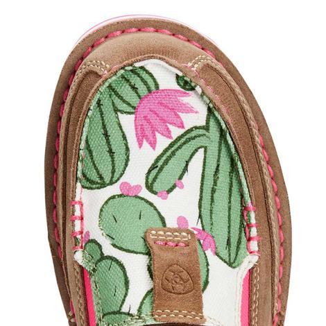 Ariat Womens Cactus Flower Slip On Cruisers