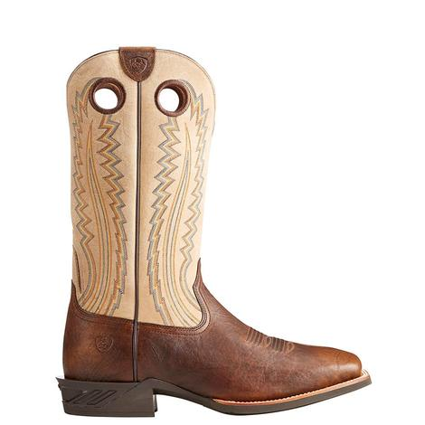 Ariat Mens Catalyst Plus Bar Top Bison Brown and Creme Boots