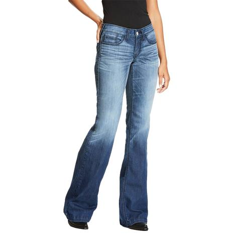 Ariat Trouser Half Moon Chill Blue Women's Jeans