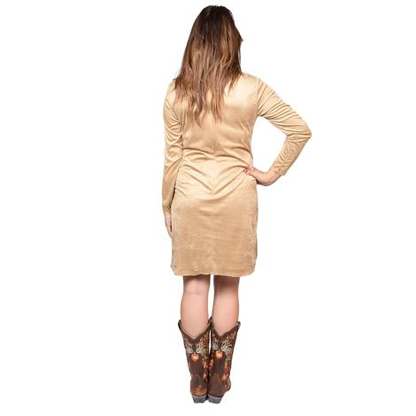 Ariat Womens Woodland Light Tan Fringed Dress