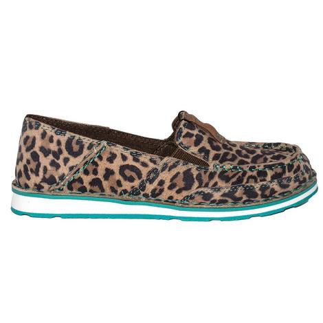 Ariat Womens Turquoise Cheetah Cruiser