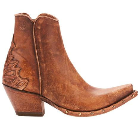 Ariat Womens Fenix Naturally Distressed Brown Shortie Boot