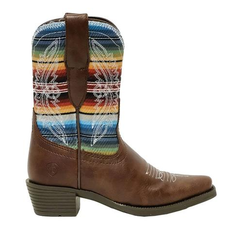 Ariat Stella Old Serape Print Snip Toe Kid's and Youth Boot