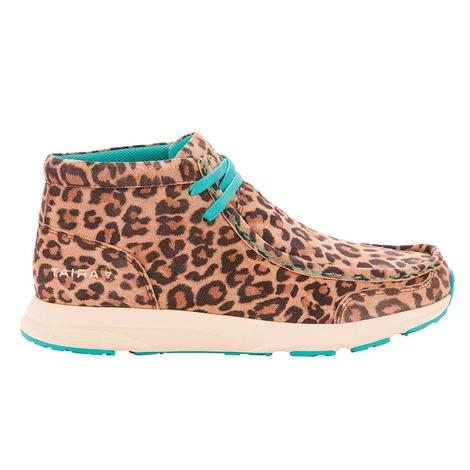 Ariat Womens Leopard Turquoise Spitfire Casual Shoes
