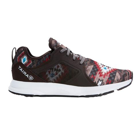 Ariat Fuse Brown Aztec Print Women's Athletic Shoes