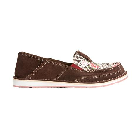 Ariat Brown and Leopard Roses Women's Cruiser