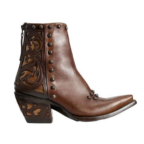Ariat Diva Warm Cognac Studded Women's Shortie Boots
