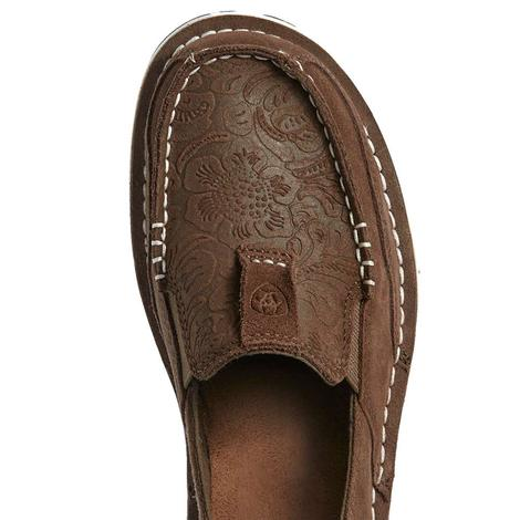 Ariat Brown Suede Floral Embossed Women's Cruisers