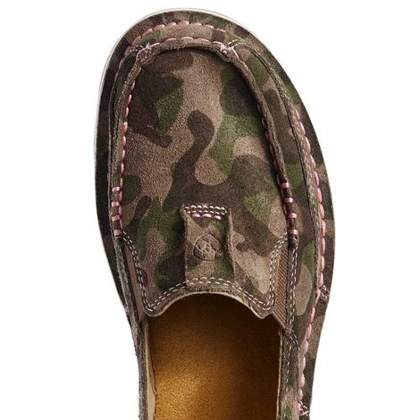 Ariat Camo Suede Cruiser Women's Slipon Shoes