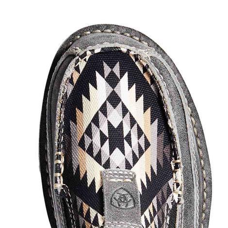 Ariat Grey Black Aztec Print Women's Cruisers