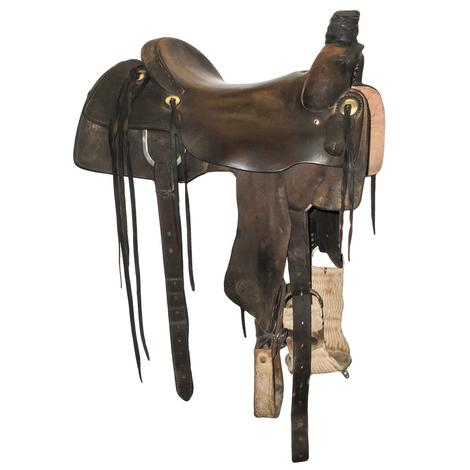 "Sulfer River Ranch Cutter 16"" Used Saddle"