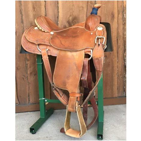 "Yoakum 15.5"" Used Calf Roping Saddle"