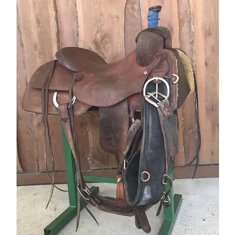 "STT Full Roughout 16"" Used Ranch Cutter Saddle"