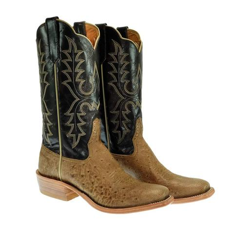 Rios of Mercedes Smooth Ostrich Chocolate Explosion Men's Boots