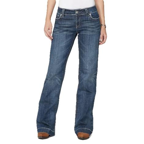 Stetson Womens Arrow Stitch Pocket Trouser Jean