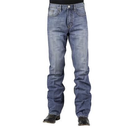 Stetson Mens Straight Leg Midrise Relax Fit Boot Cut Jean Medium Wash