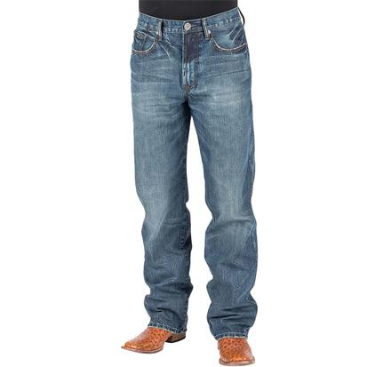 Stetson Mens Medium Wash Relaxed Jeans