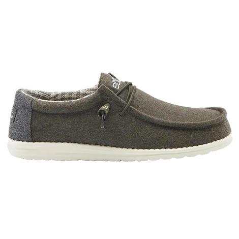 Hey Dudes Wally Green Houndstooth Men's Shoe