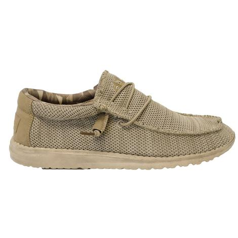 Hey Dude Wally Sox Beige Men's Shoes