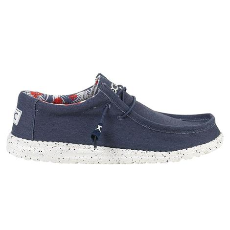 Hey Dude Wally Stretch Blue Men's Shoes