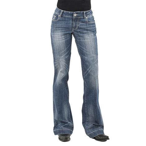Stetson Trouser Medium Wash X Pocket Women's Jeans