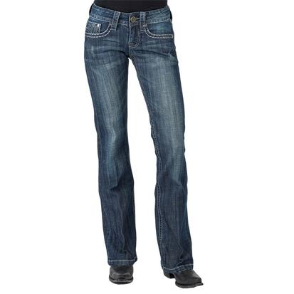 Stetson Womens Carmine Dark Wash Heavy Pocket Stitch Jeans