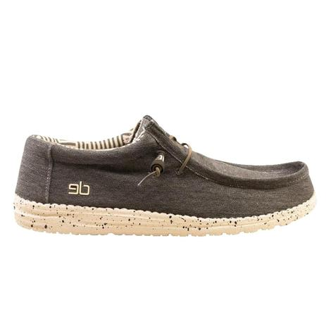 Hey Dude Wally L Stretch Chocolate Lace Up Men's Shoes