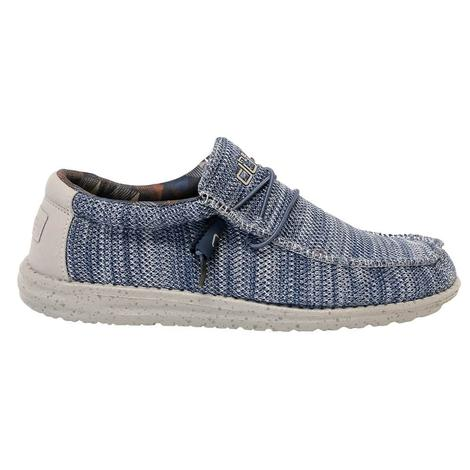 Hey Dude Wally Sox Steel Blue Men's Shoes