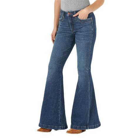 Wrangler High Rise Trumpet Flare Women's Jeans