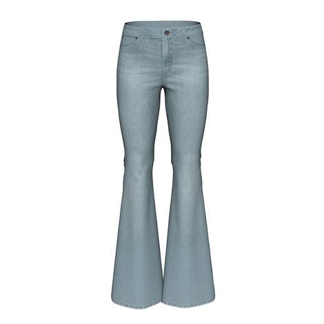 Wrangler High Rise Light Wash Flare Women's Jeans