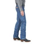 Wrangler Mens Gold Buck Original Fit Cowboy Cut Jeans - Stonewashed - Extended Waist