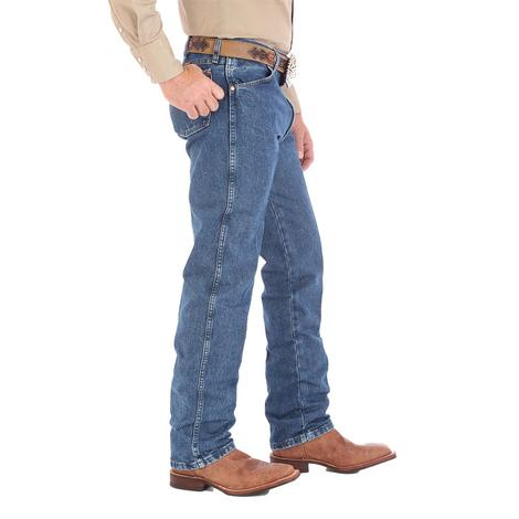 Wrangler Mens Gold Buck Original Fit Cowboy Cut Jeans - Stonewashed
