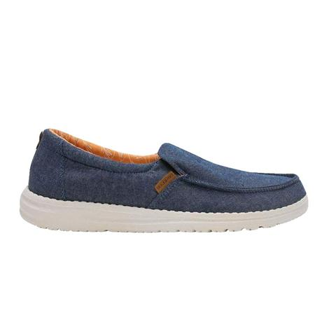Hey Dude Misty Chambray Navy Slip On Women's Shoes