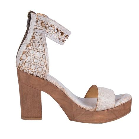 SBICCA Womens Daytrip Sparkly White Heeled Shoe