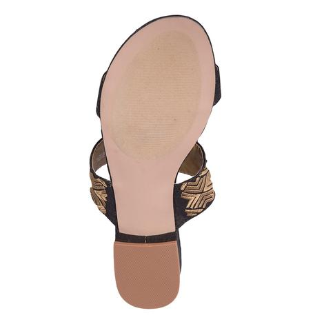 SBICCA Womens Palazzo Black and Gold Sandal
