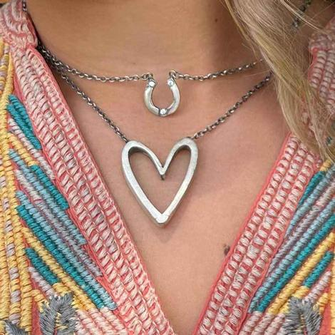 Love Tokens Silver Horsehoe Neckace