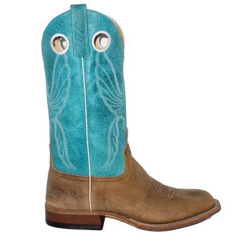 Anderson Bean Mens American Bison Turquoise Sinsation Boots