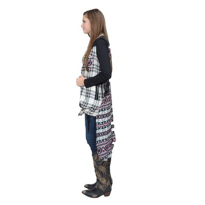 Tasha Polizzi Womens Insta Plaid Chief Maxi Duster