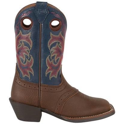 Justin Dark Brown Rawhide Toddlers' Stampede Cowboy Boots