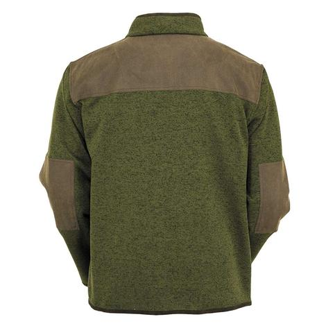 Outback Trading Co Mens Garner Green Brown Accent Jacket