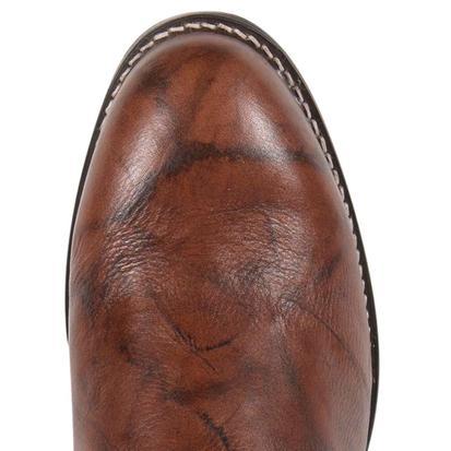 Justin Mens Roper Chestnut Marbled Deerlite Round Toe Boot
