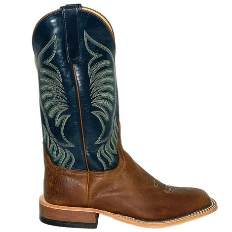 Anderson Bean Ash Bombshell with Regal Blue Kidskin Men's Boots