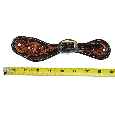 Professional Choice Floral Natural Chocolate Tool Women's and Youth Stratford Spur Straps