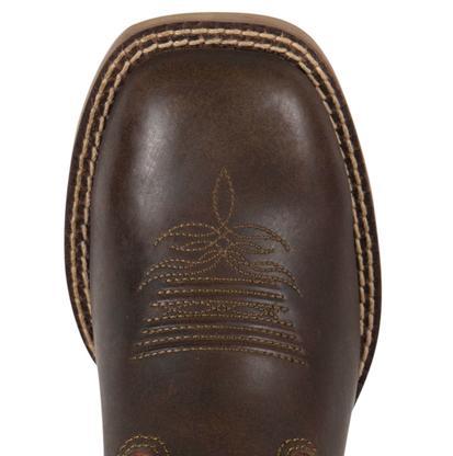Justin Kids' Bent Rail Dark Brown Apache Cowboy Boot