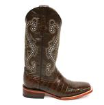 Ferrini Mens Chocolate Alligator Belly Print Boots