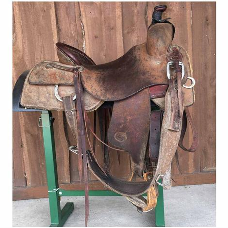"STT Ranch Cutter Full Roughout 16.5"" Used Saddle"