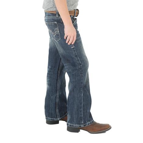 Wrangler 20X No. 42 Vintage Bootcut Canyon Lake Wash Boy's Jeans - Size 8-18