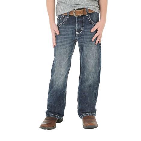Wrangler 20X No. 42 Vintage Bootcut Canyon Lake Wash Boy's Jeans - Size 4-7